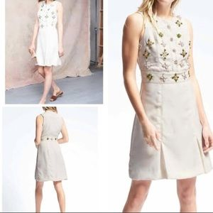 Beaded Banana Republic cream dress size 4